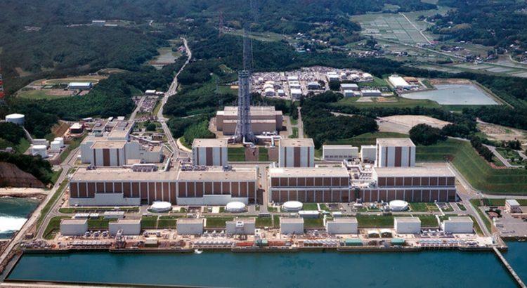 Elektrownia Fukushima widziana z lotu ptaka.